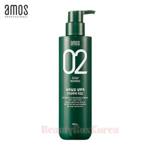 AMOS Feel the Green Tea Shampoo 500g (Oily)