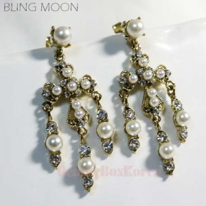 BLING MOON Femme Cross Earring 1pair