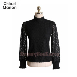 CHLO.D MANON Frill Ribbed Hem Lace Top 1ea