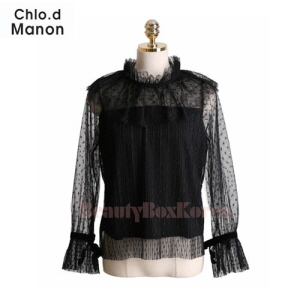 CHLO.D MANON Lace Bertha Collar Sheer Overlay Blouse 1ea