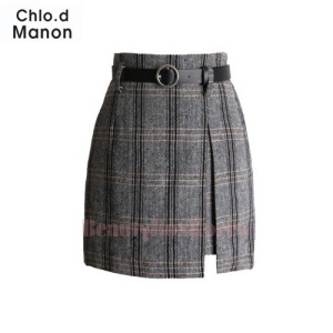 CHLO.D MANON Step Hem Check Mini Skirt 1ea