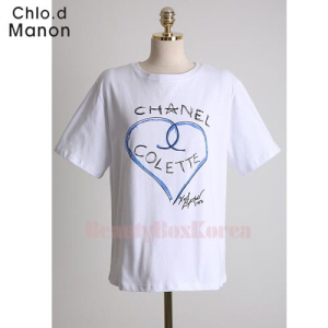CHOL.D MANON Chanel Heart Logo T-Shirt 1ea