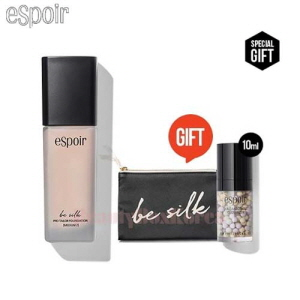 ESPOIR Be Silk Pro Tailor Foundation 30ml with Black Pouch 1ea [August 2017 Limited]