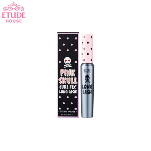 ETUDE HOUSE Pink Skull Curl Fix Mascara Long Lash 8g, ETUDE HOUSE