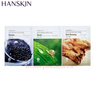 HANSKIN Gold Essence Sheet Mask 23ml*10ea