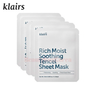 KLAIRS Rich Moist Soothing Tencel Sheet Mask 25ml*5ea
