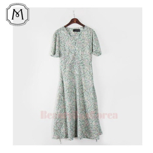 MONICA AND ARI Flower Pearl Button Long Bending One-Piece 1ea