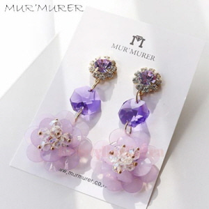 MUR'MURER Purple Scent Earrings 1pair
