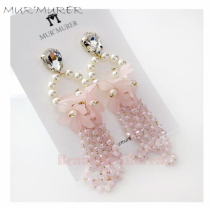 MUR'MURER Lovely Pink Earrings 1pair