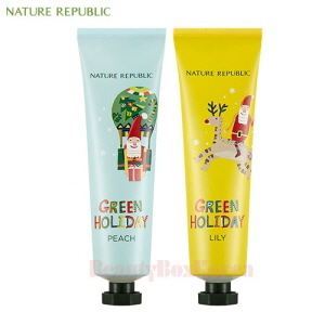 NATURE REPUBLIC Hand & Nature Hand Cream 100ml*2ea [Green Holiday Edition]
