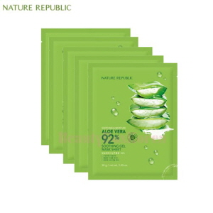NATURE REPUBLIC Soothing & Moisture Aloe Vera 92% Soothing Gel Mask Sheet 30g*10ea