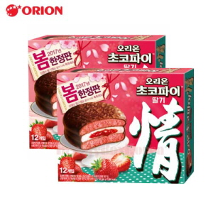 ORION Choco Pie Strawberry 444g*2Box