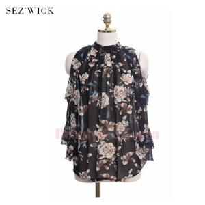 SEZ'WICK Off Round Floral Top 1ea