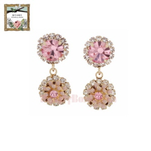 STRAWBERRY SHERBET Renaissance Flower Earrings 1pair