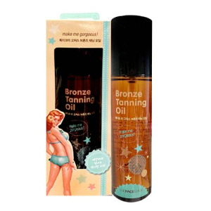 THE FACE SHOP Make Me Gorgeous Bronze Tanning Oil SPF8 140ml, THE FACE SHOP