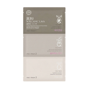 THE FACE SHOP JEJU VOLCANIC LAVA 3-Step Blackhead Remover Nose Strips, THE FACE SHOP