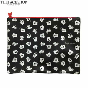 THE FACE SHOP Mickey Pouch (Disney Collaboration) - Mickey Big Pouch (Black) 1ea
