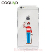 COQUAD Where's Wally Clear Phone Case Wally With a Cane,Beauty Box Korea