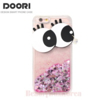DOORI 5 Items Cutie Eye Clear Glitter Jelly Phone Case,Beauty Box Korea