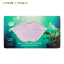 NATURE REPUBLIC Aqua Collagen Solution Marine Hydrogel Lip Patch 8g, NATURE REPUBLIC