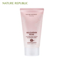 NATURE REPUBLIC Bulgarian Rose Moisture Foam Cleanser 120ml (Online exclusive), NATURE REPUBLIC