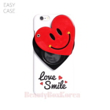 EASYCASE Heart Smile Mirror Phone Case White,EASYCASE,Beauty Box Korea