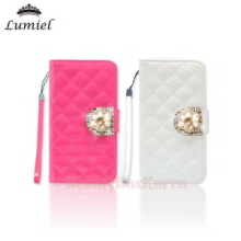 LUMIEL 4Items Ruby Qualiting Diary Phone Case