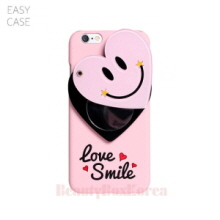 EASYCASE Heart Smile Mirror Phone Case Pink,EASYCASE,Beauty Box Korea