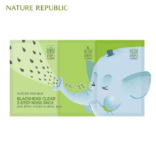 NATURE REPUBLIC Blackhead Clear 3-step Nose Pack(3g+0.2g+3g) 1ea, NATURE REPUBLIC