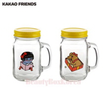 KAKAO FRIENDS Love Story Cute Drink Jar 2ea Set,Mu&U,Beauty Box Korea