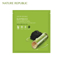 NATURE REPUBLIC Bamboo Charcoal Black Mask Sheet 27ml, NATURE REPUBLIC