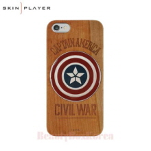 SKIN PLAYER Marvel Wood Phone Case(2Items),SKIN PLAYER,Beauty Box Korea
