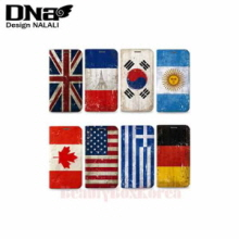 DESIGN NALALI 8Items Grunge Flag Wallet Diary Phone Case