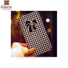 FLABONI Mr.H Beads Luxury Simple Flip Phone Case,Beauty Box Korea