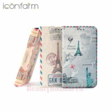 ICONFARM 3Item Vintage Travel Book Diary Phone Case,Beauty Box Korea