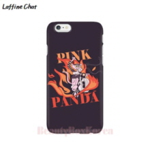 RAFFINE CHAT Pink Pander Rider Black Hard Phonecase, RAFFINE CHAT