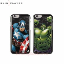 SKIN PLAYER 4Items Marvel Primium Mirror Black Edition Phone Case