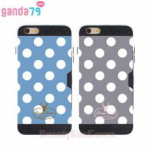 GANDA79 5Items Dot Card Pocket Bumper Phone Case