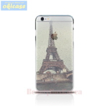 OKICASE Jelly Phone Case Rainy Eiffel Tower,Beauty Box Korea