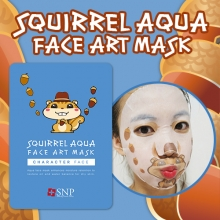 SNP Squirrel Aqua face art mask 25ml x 10 sheets, SNP