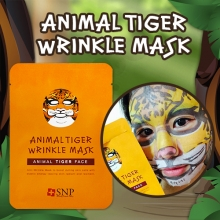 SNP Animal Tiger Wrinkle Mask 25ml x 10 sheets, SNP