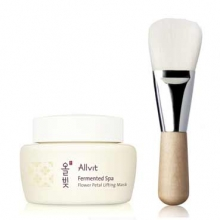 ALLVIT Fermented Spa Flower Petal Lifting Mask 100ml with Brush, Allvit