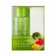 NATURE REPUBLIC Fresh Vegetable Wash Free Cleansing Water 300ml+ 40 cotton pads, NATURE REPUBLIC