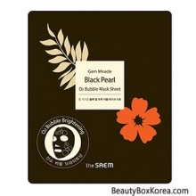 THE SAEM Gem Miracle Black Pearl O2 Bubble Mask Sheet 27ml, THE SAEM