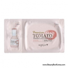 SKINFOOD Premium Tomato Whitening Essence(Skin-Brightening Effect)+Premium Tomato Moisture Cover Mask Sheet 2.5ml+25ml, Skinfood