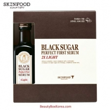 SKINFOOD Black Sugar Perfect First Serum 2X –light- (skin-brightening and Anti-wrinkle Effects) 120ml, Skinfood