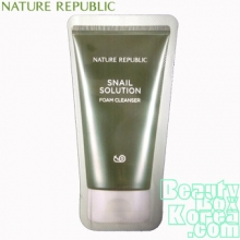 [mini] NATURE REPUBLIC Snail solution foam cleanser 1ml*10ea, NATURE REPUBLIC