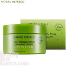 NATURE REPUBLIC Jeju Sparkling Mud Cleansing Cream 215ml, NATURE REPUBLIC
