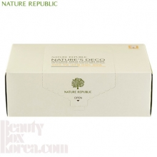NATURE REPUBLIC Nature Deco Natural Mild Cotton Wipe 100% 80ea, NATURE REPUBLIC