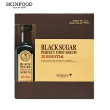 SKINFOOD Black Sugar Perfect First Serum 2X –essential- (skin-brightening and Anti-wrinkle Effects), Skinfood